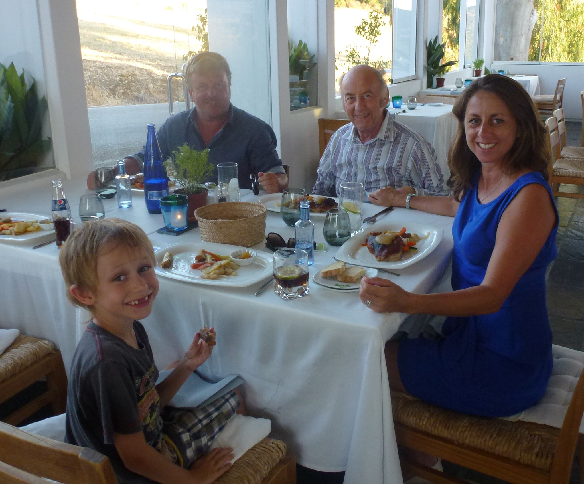 Jo, Henry & Paul with Dad at Venta Garcia