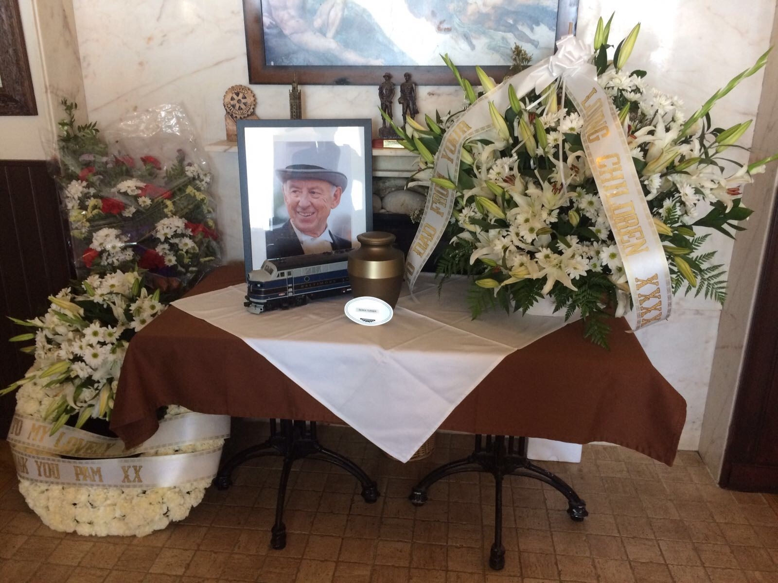 Memorial Service to Derek on 3rd May 2017