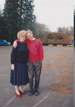 Ann and Tony at Little Grove at a CCI teachers  workshop in 1994