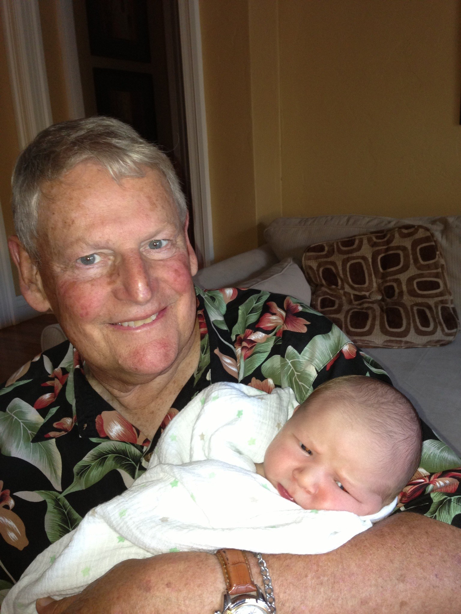 Lou and grandson, Chase, June 2013