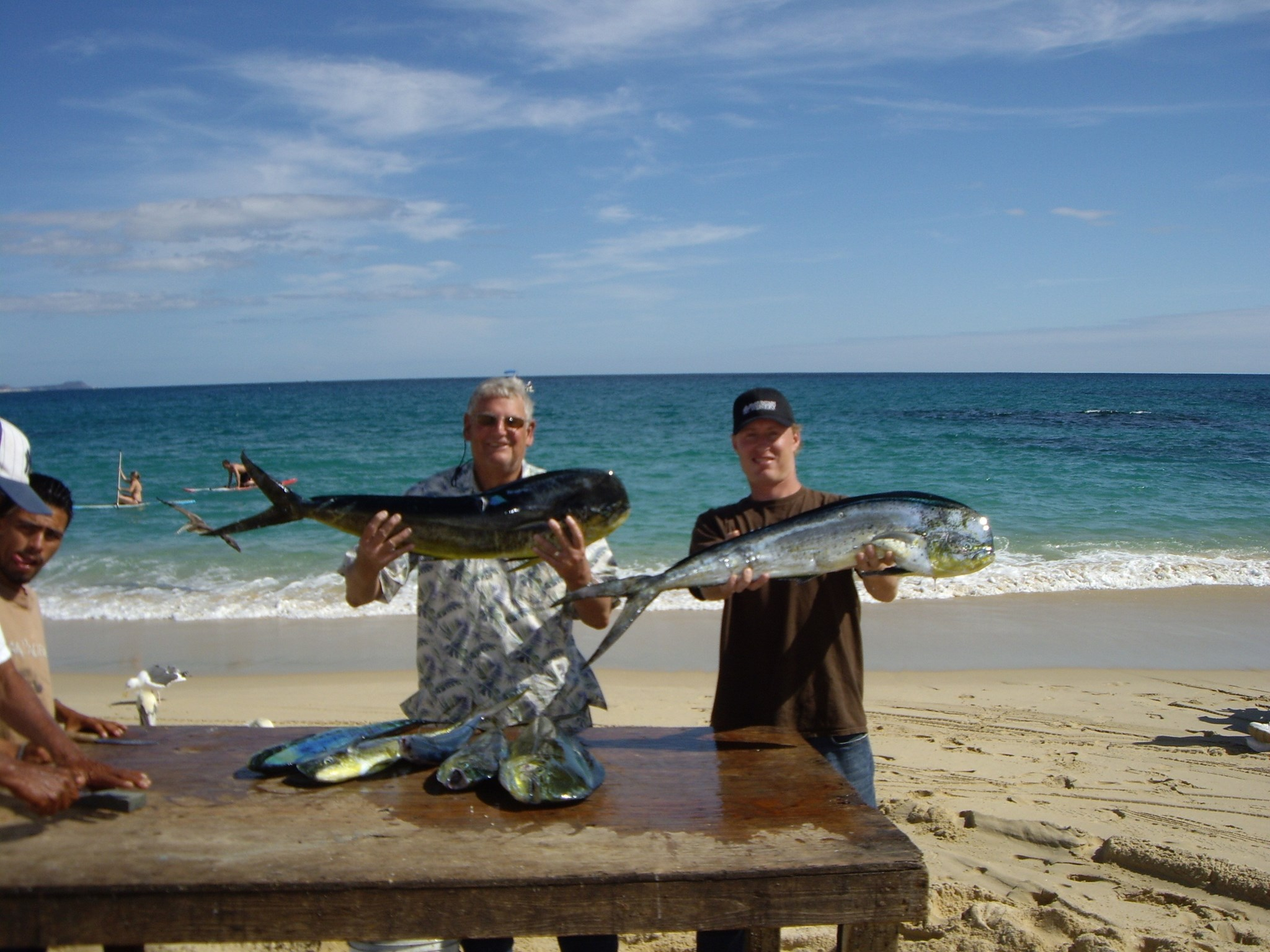 Lou and Ian after the big catch in Cabo