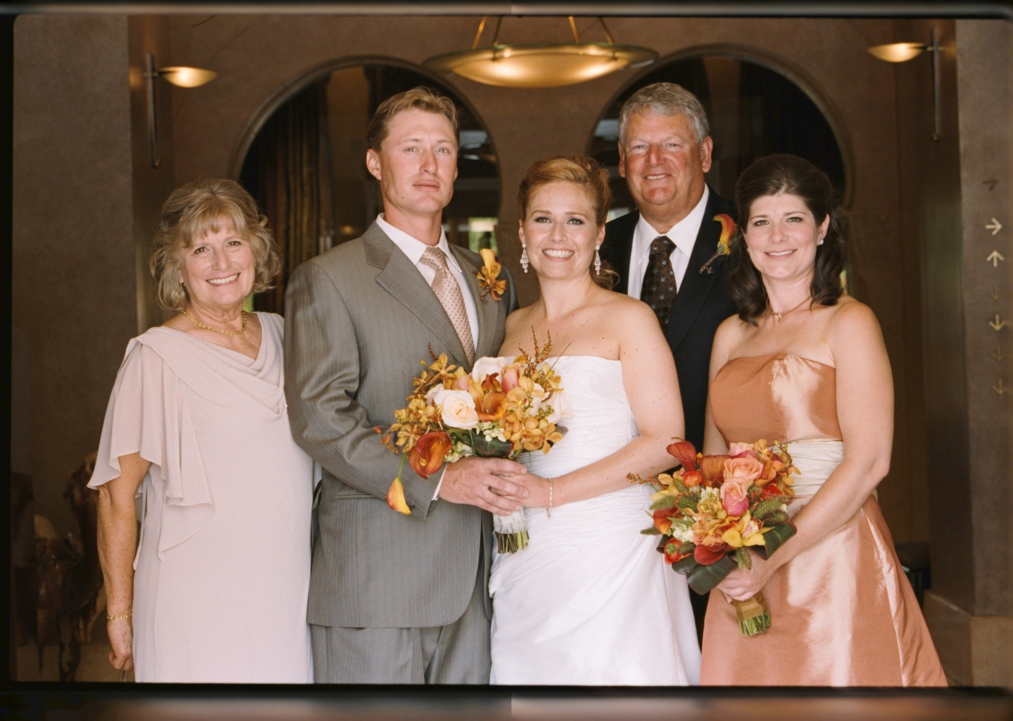 Tully Family at Ian and Caroline's wedding - the Tully clan can clean up nicely!