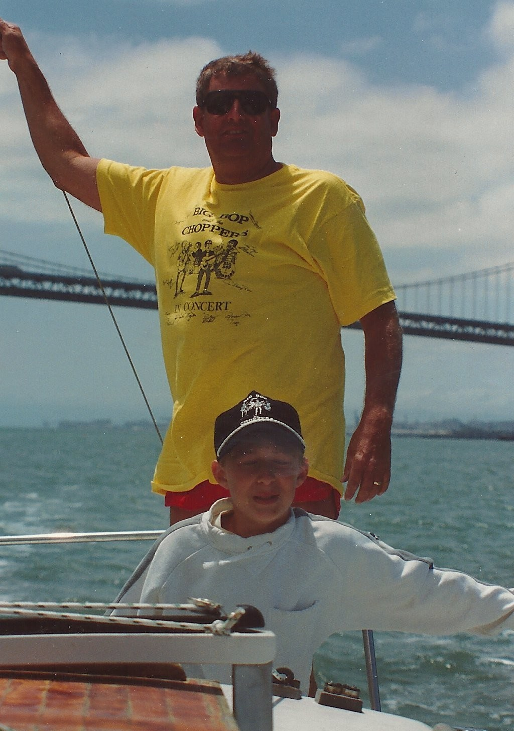 Lou and Ian sailing the 'Elation' on the San Francisco Bay