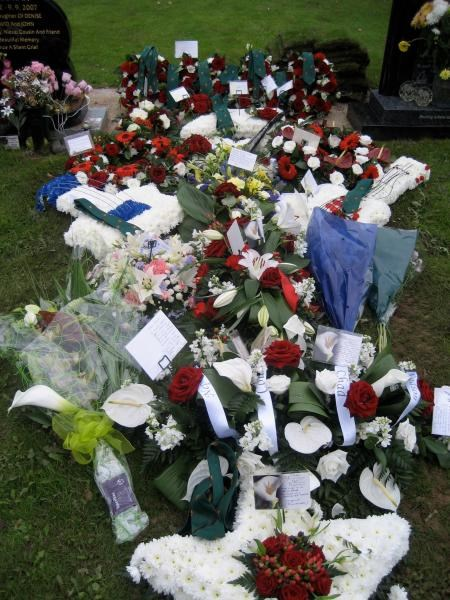 Chads funeral flowers 28th August 2008