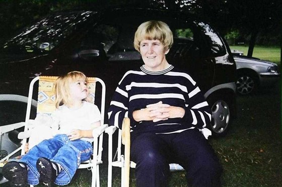 2003 Lotherton Hall with her granddaughter