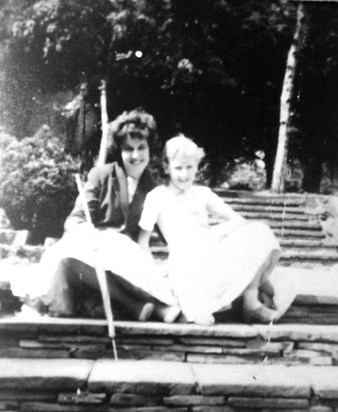 Patricia and younger sister Anne