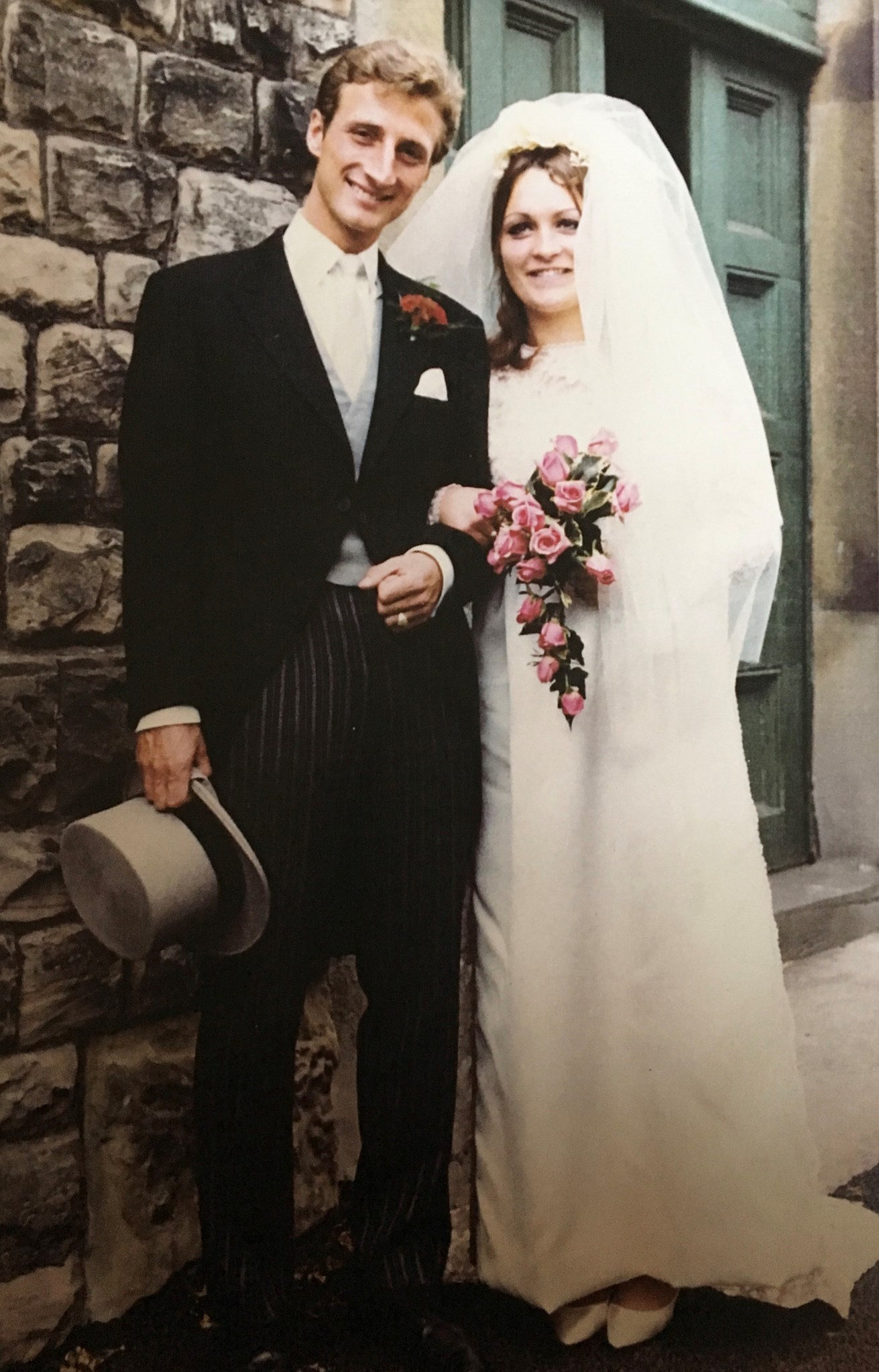 Gordon and Mary on their wedding day-23rd August 1969