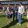Looking dapper at the races with Rachel and matt