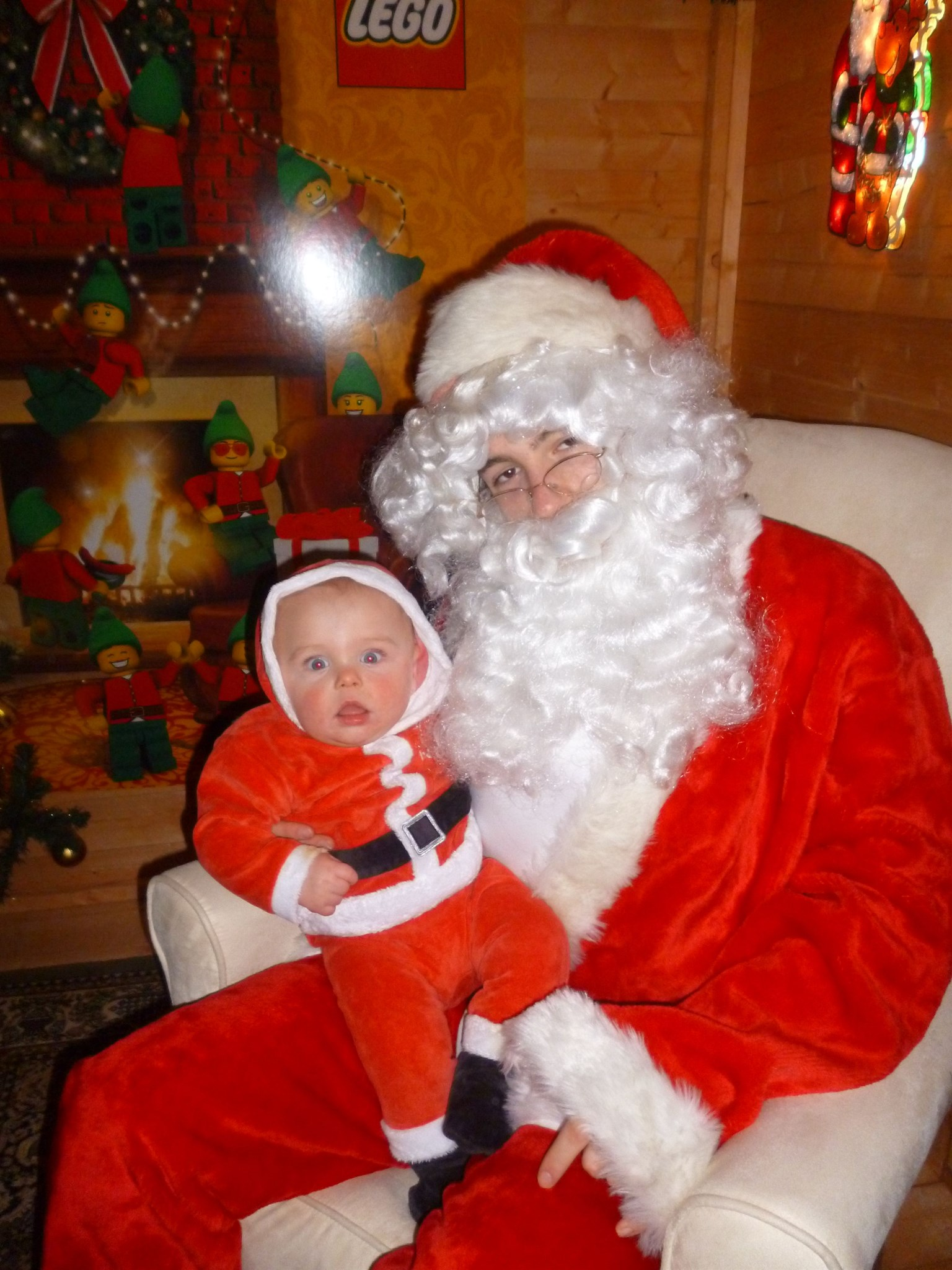 visiting santa for the 1st time