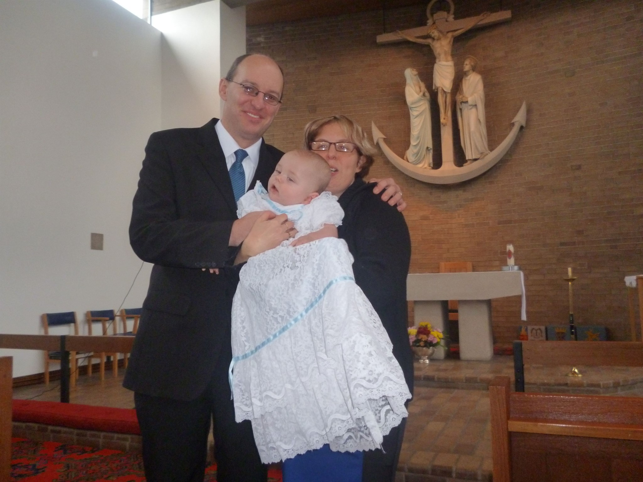 me jay and william at st andrews church b4 williams christening 25/11/12