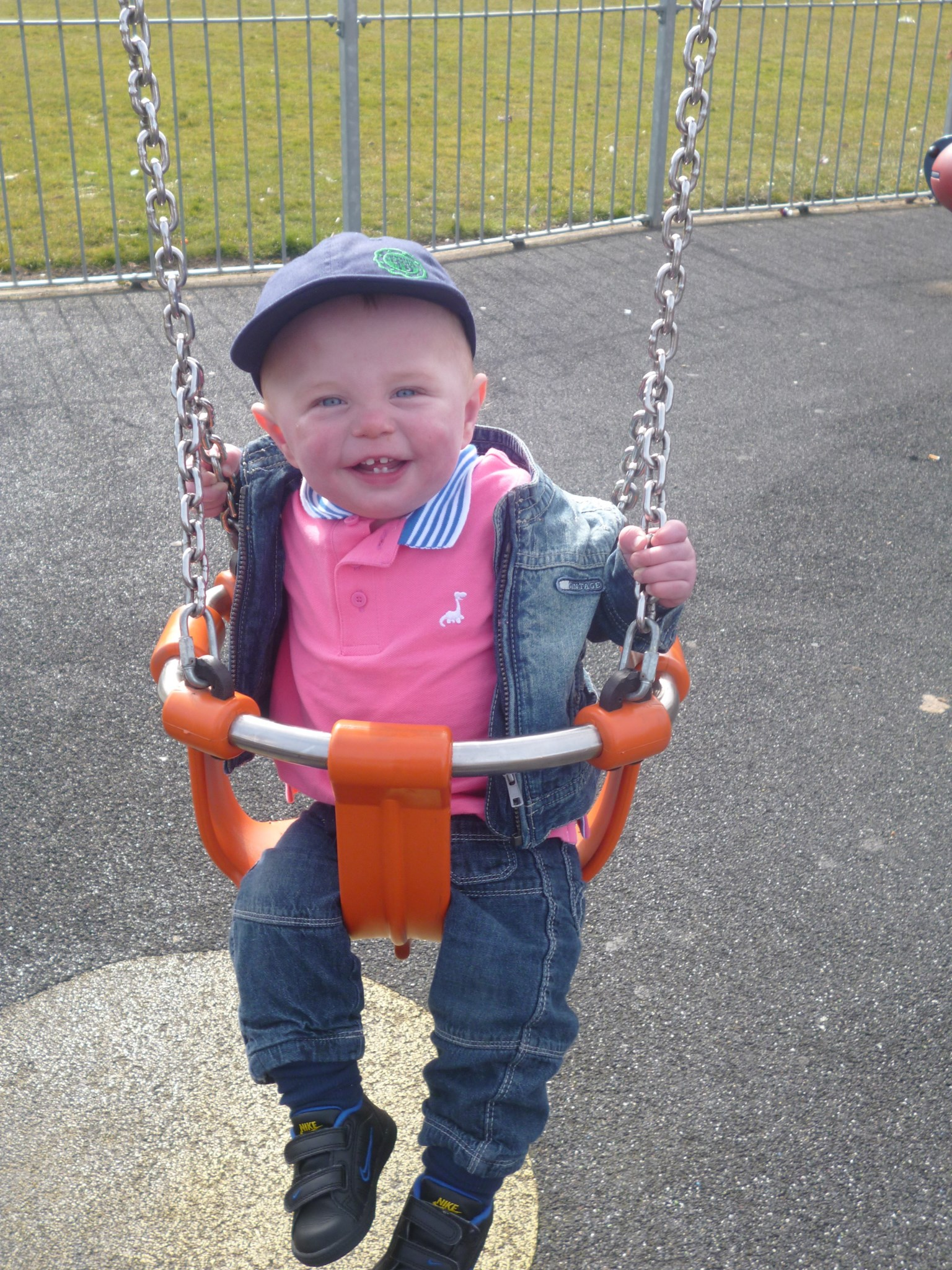 William having fun at the park aged 10 months