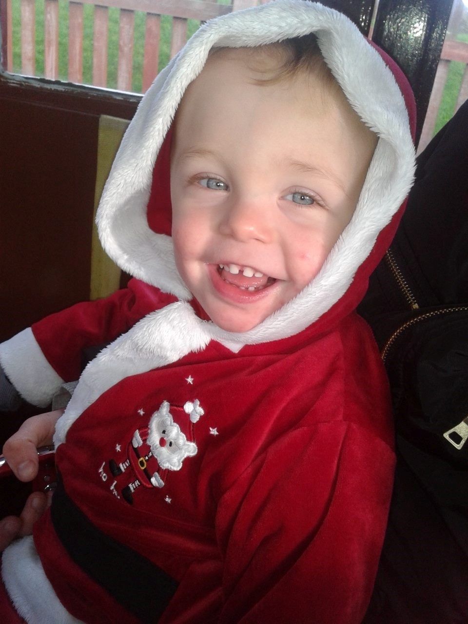 On a train ride to see santa 2013