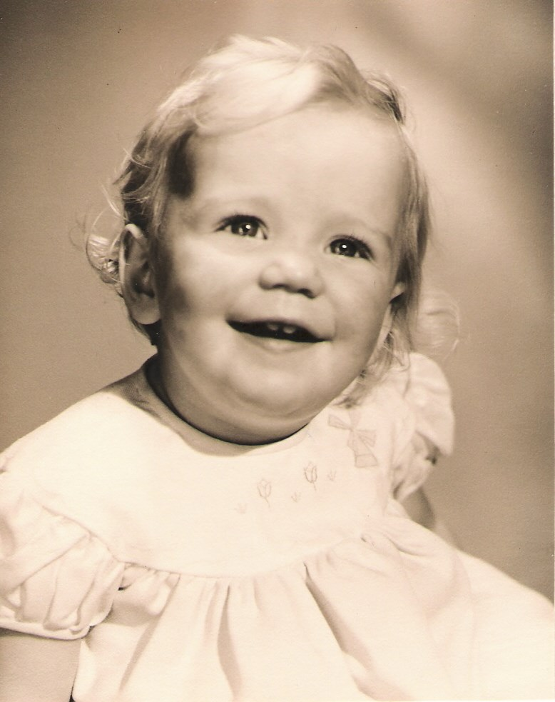 Les as a baby  - practising that beautiful smile