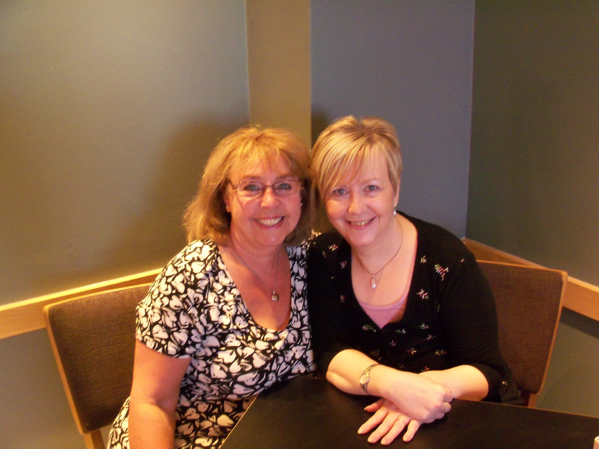 Lesley Archer and Marion having coffee xx
