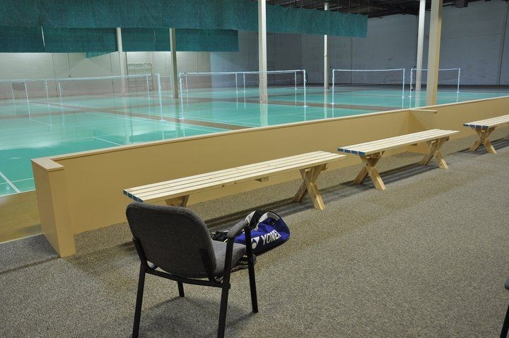Benches that Xibin designed and made for SBC