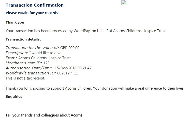 Many thanks to my big sister for her generous donation xx