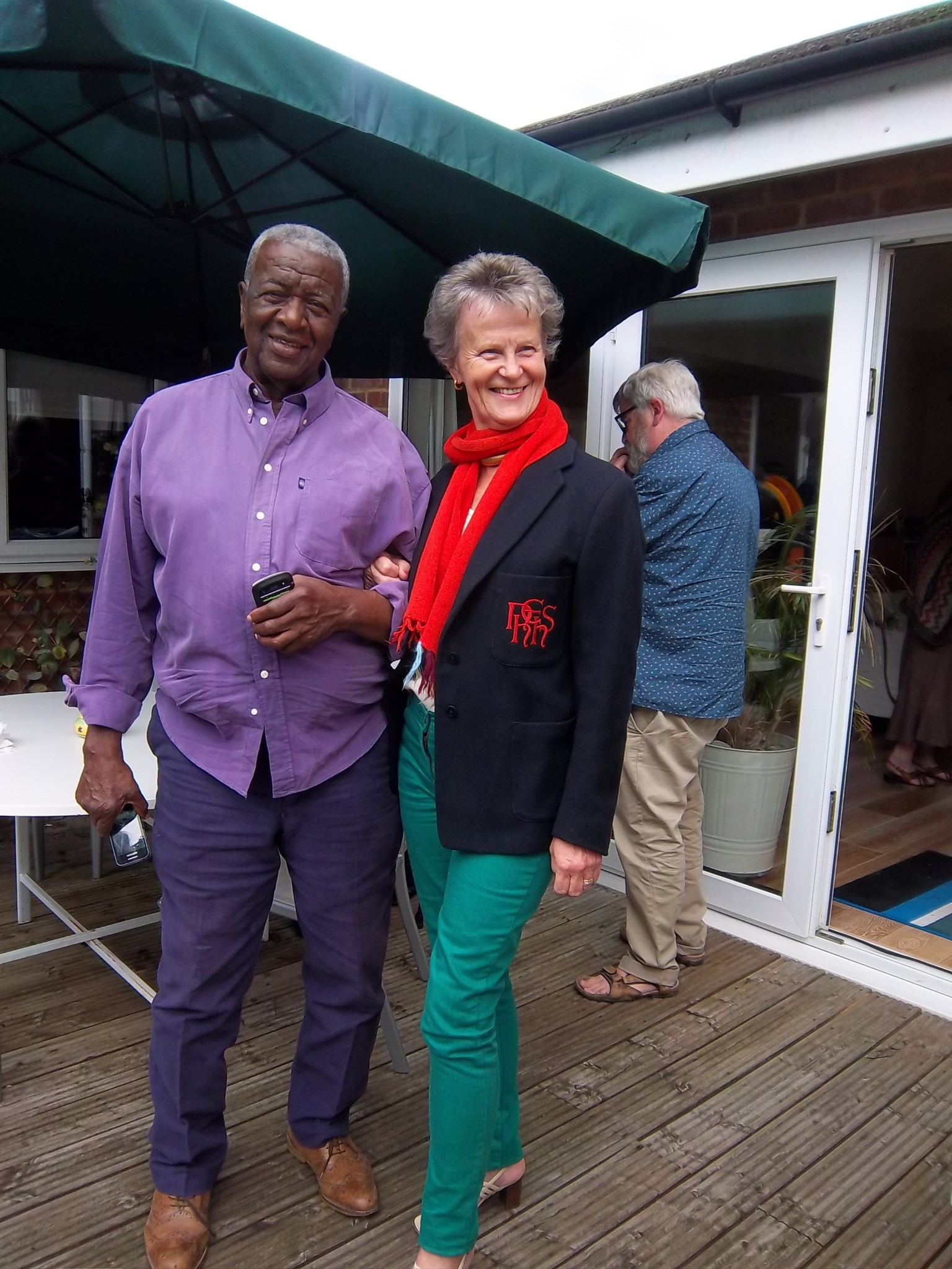 Hilary and Milton at NHEHS Golden Reunion in 2014, added by Jan Scott
