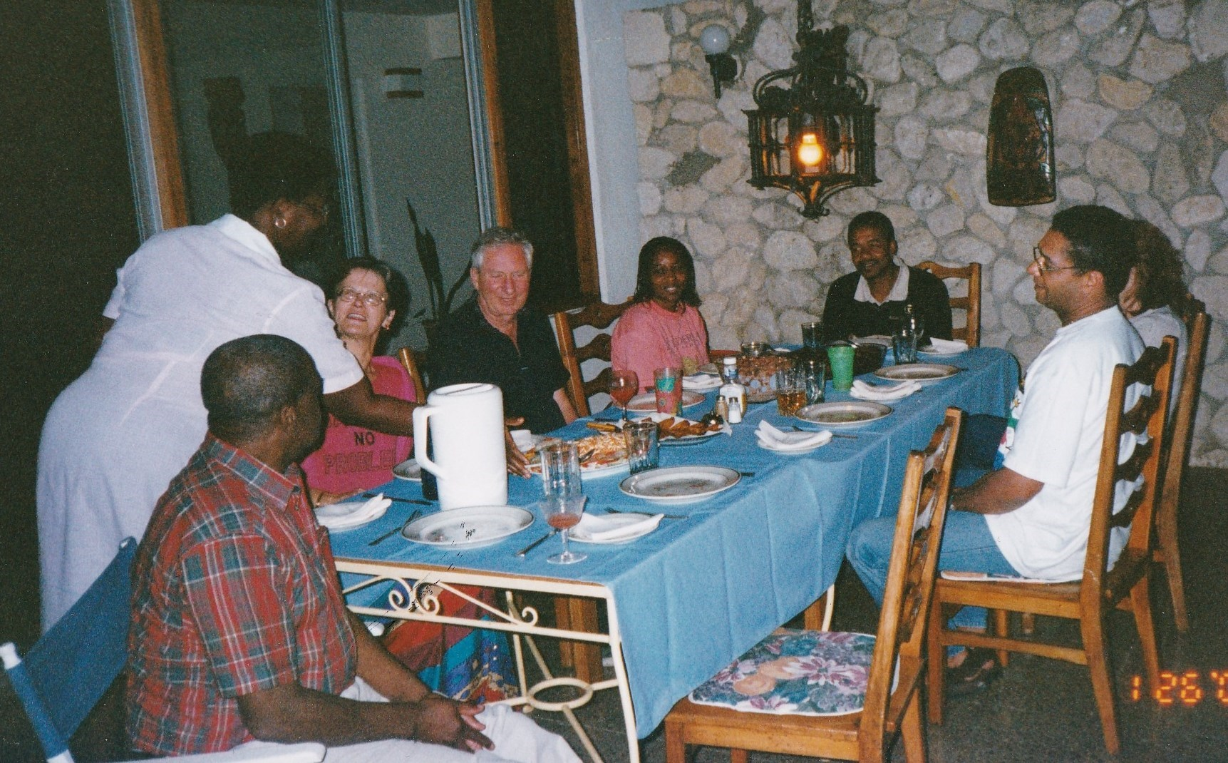 2000   At Hilary and Milton's villa Jamaica