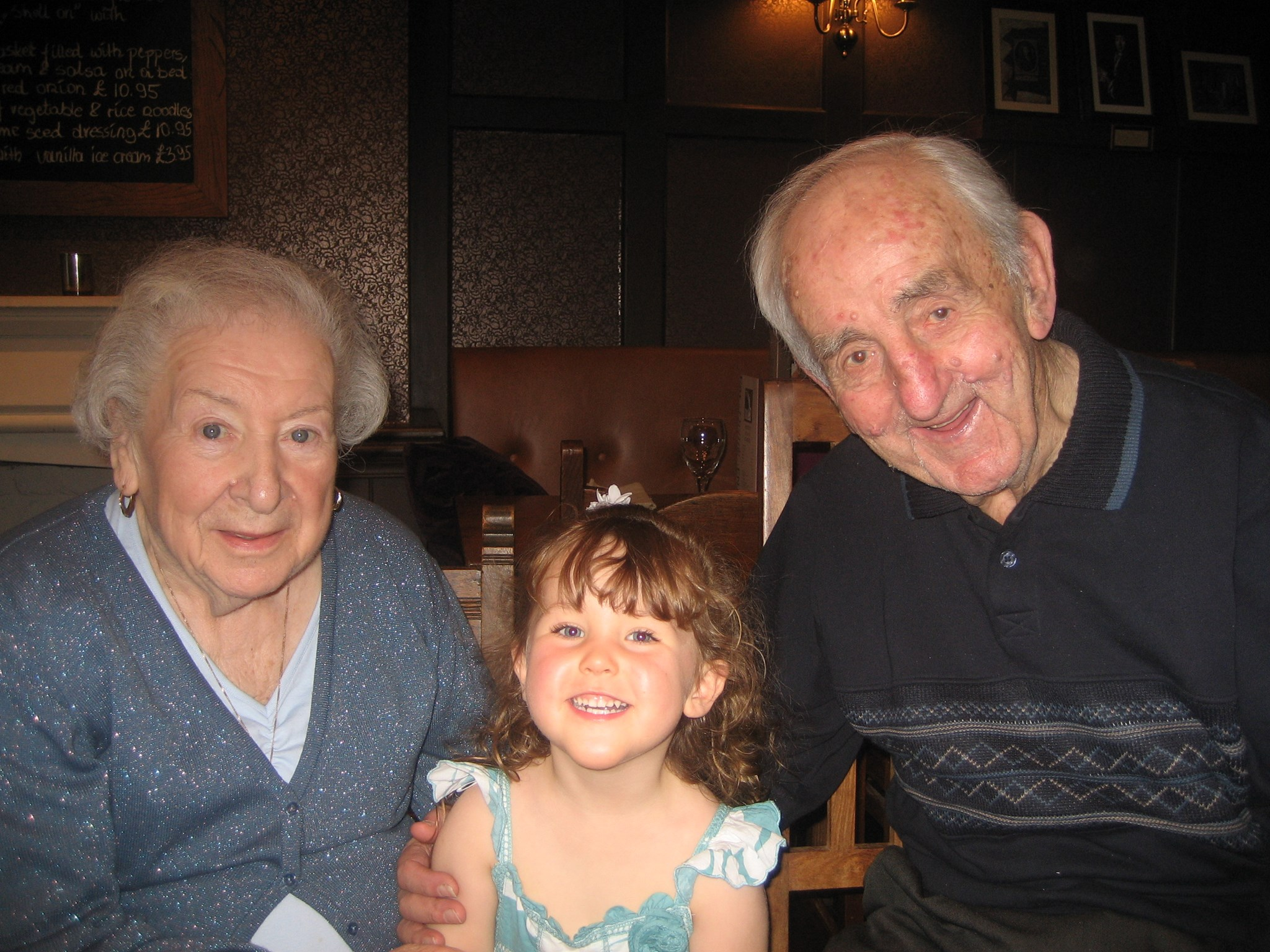 Iris and Jim and their first beloved great grandchild Erin