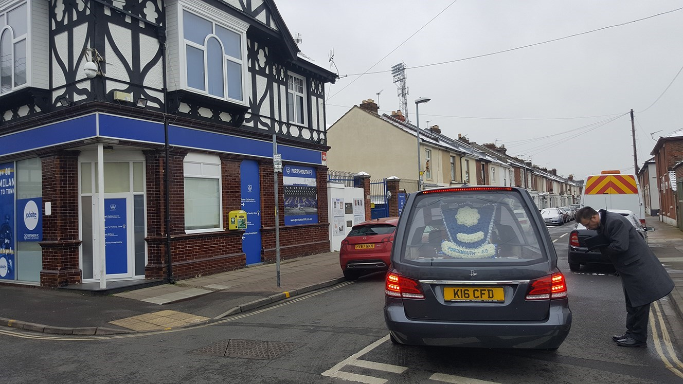 To the Fratton Football Club one last time, with my dear Aunt Vera who loved it so very much. xxx