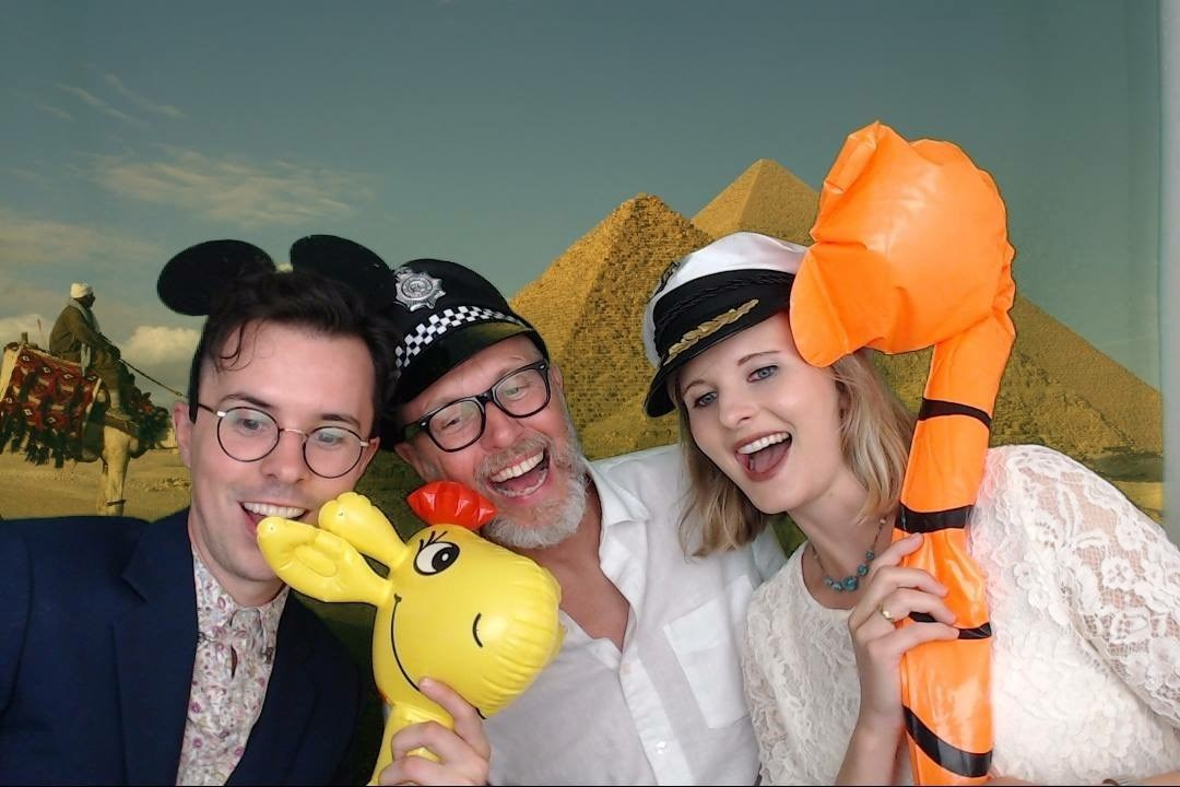 David, Charlotte & Joe in the photo booth 1