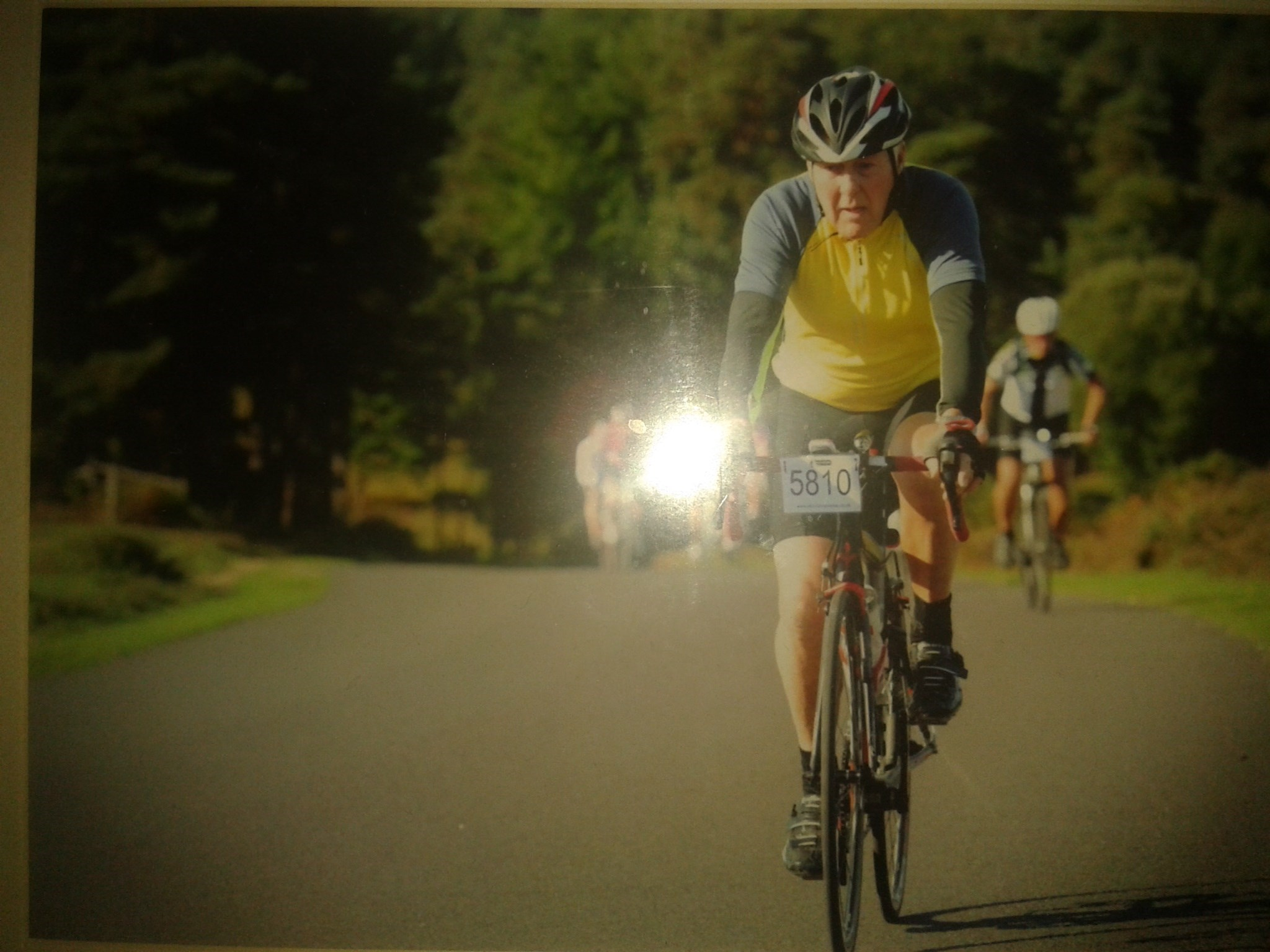 ''Thats my Dad'' Loving the challenge Leading the charge even after 60+miles