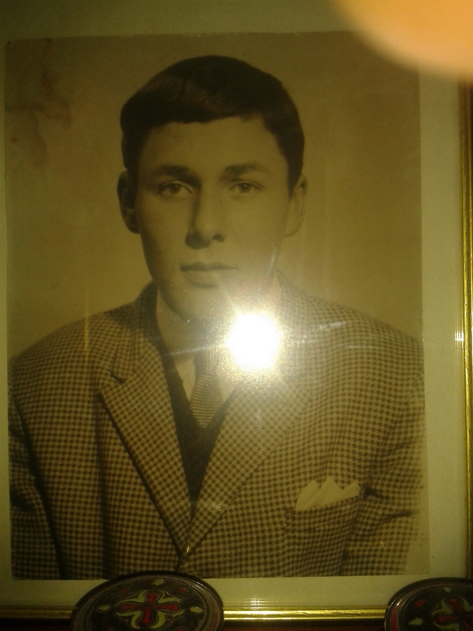 A handsome young man my dad