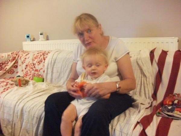 Mum with Jacob at home