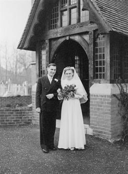 With Anna on his wedding day