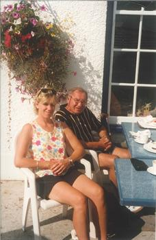 A sunny holiday with daughter Helen