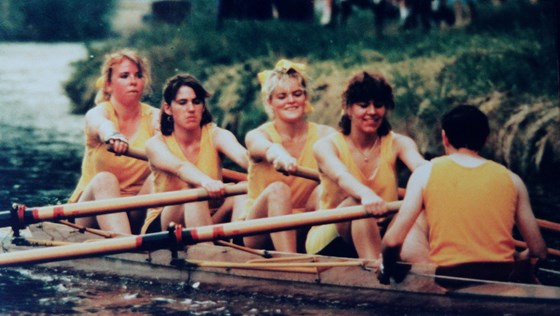 Rowing in the Mays (when they were still in IV's)