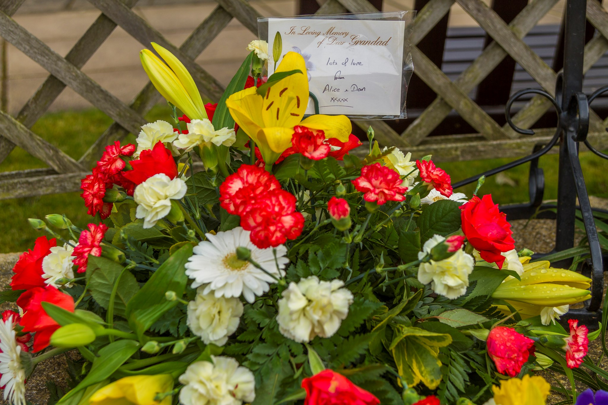 Floral tribute from Alice and Dan