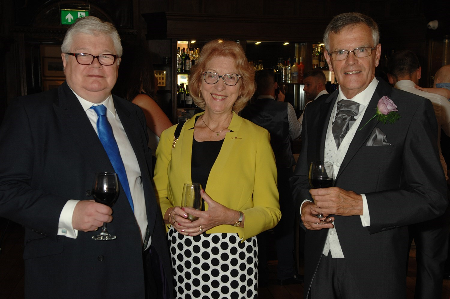 Cliff, Diane, Julian - Matthew's wedding, August 2017