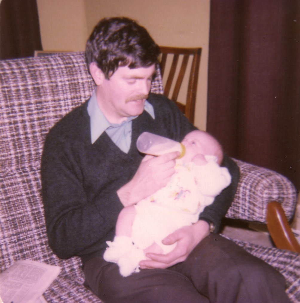 Julian with baby Simon - March 1978