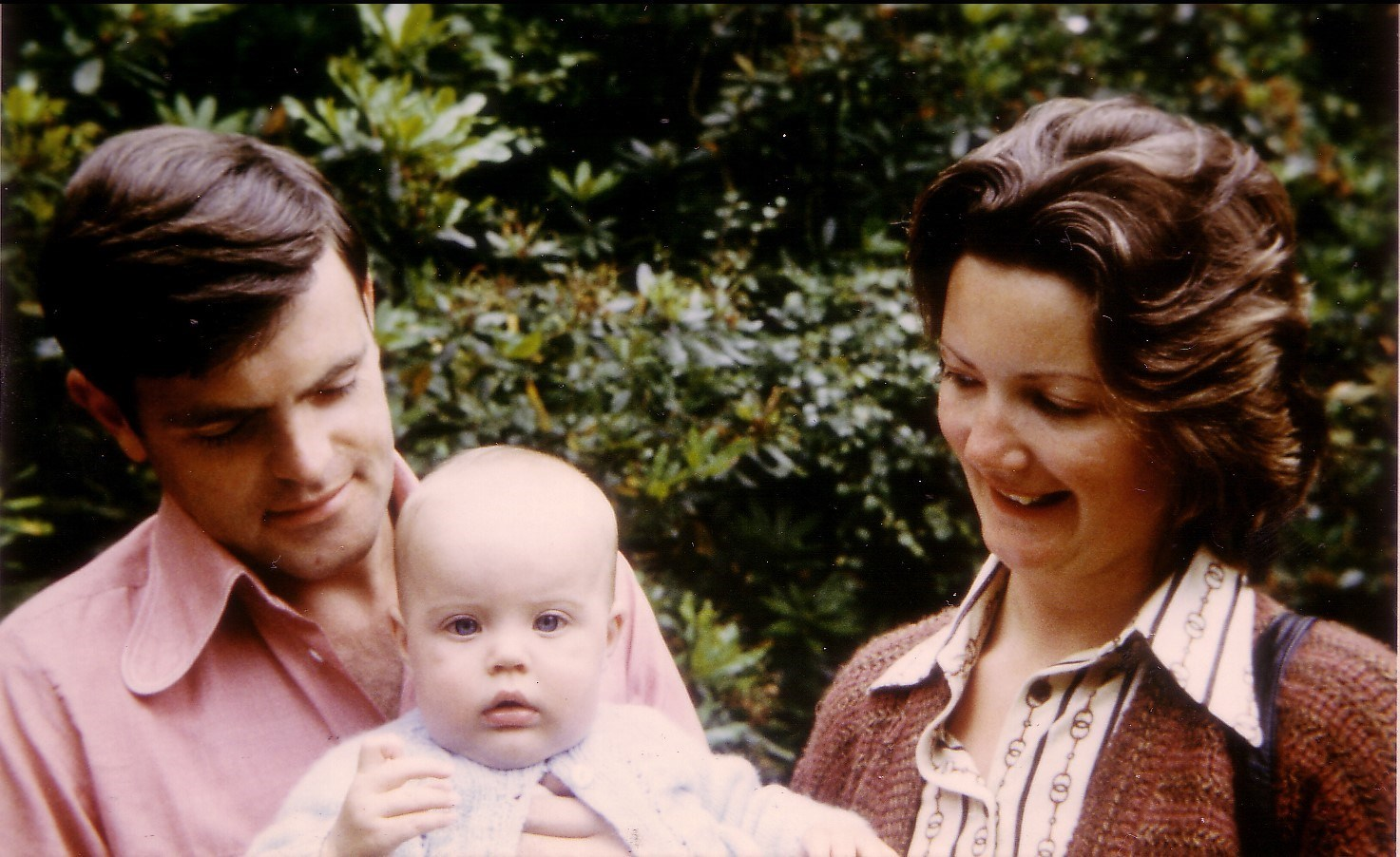 Julian, Margaret & baby Simon - 1978