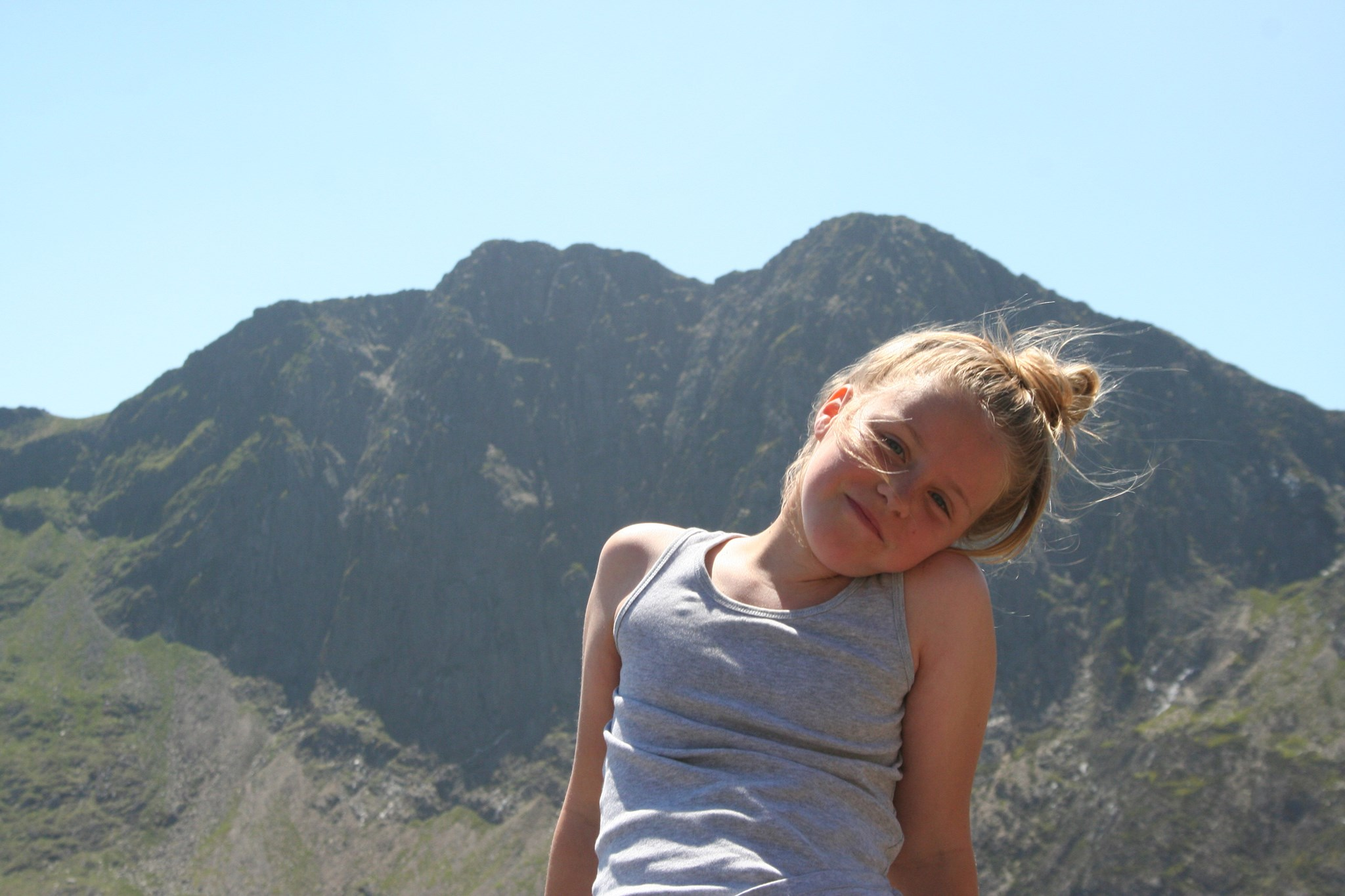 Our beautiful girl on holiday in Wales - May.