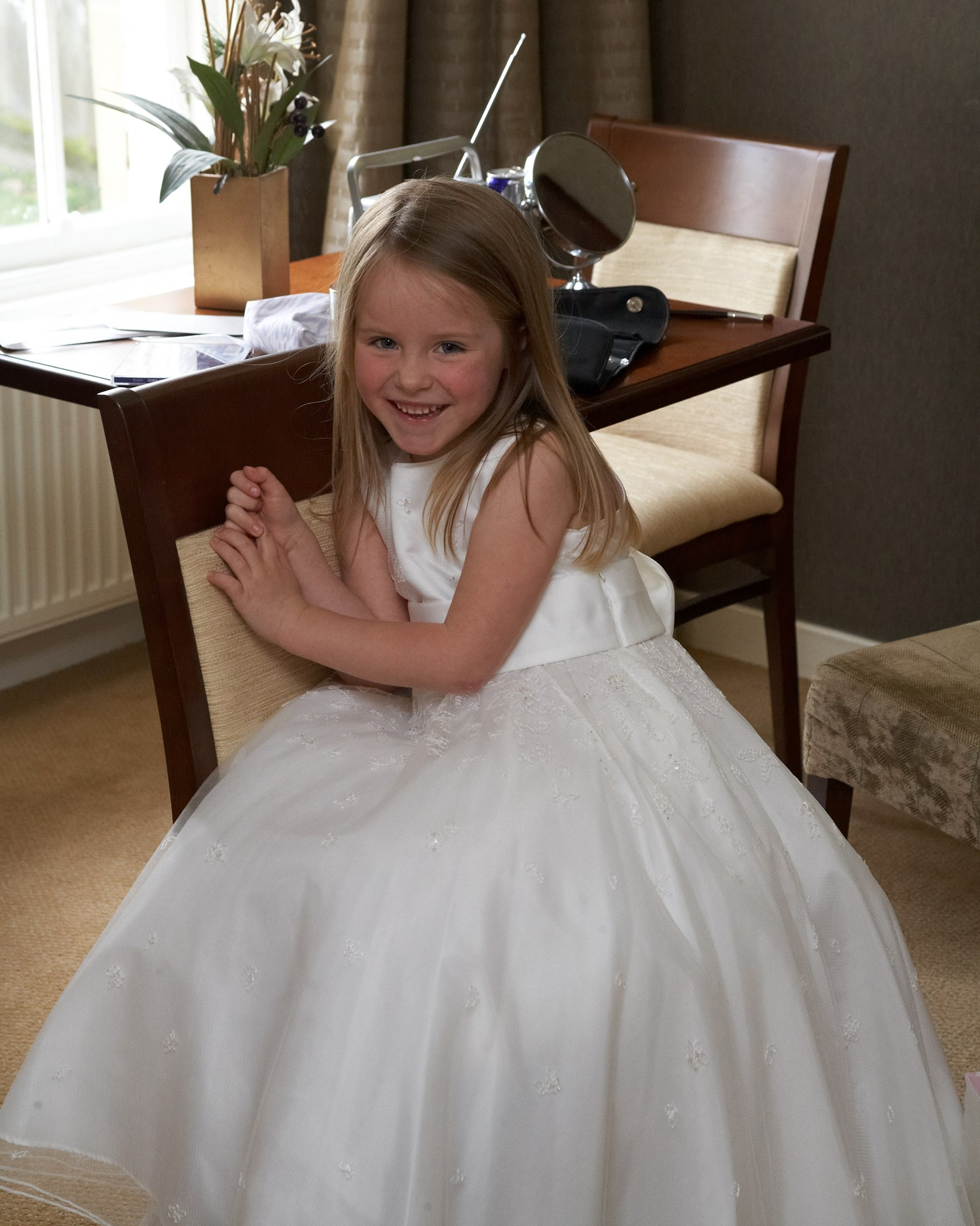 Bridesmaid at Auntie Emma's wedding