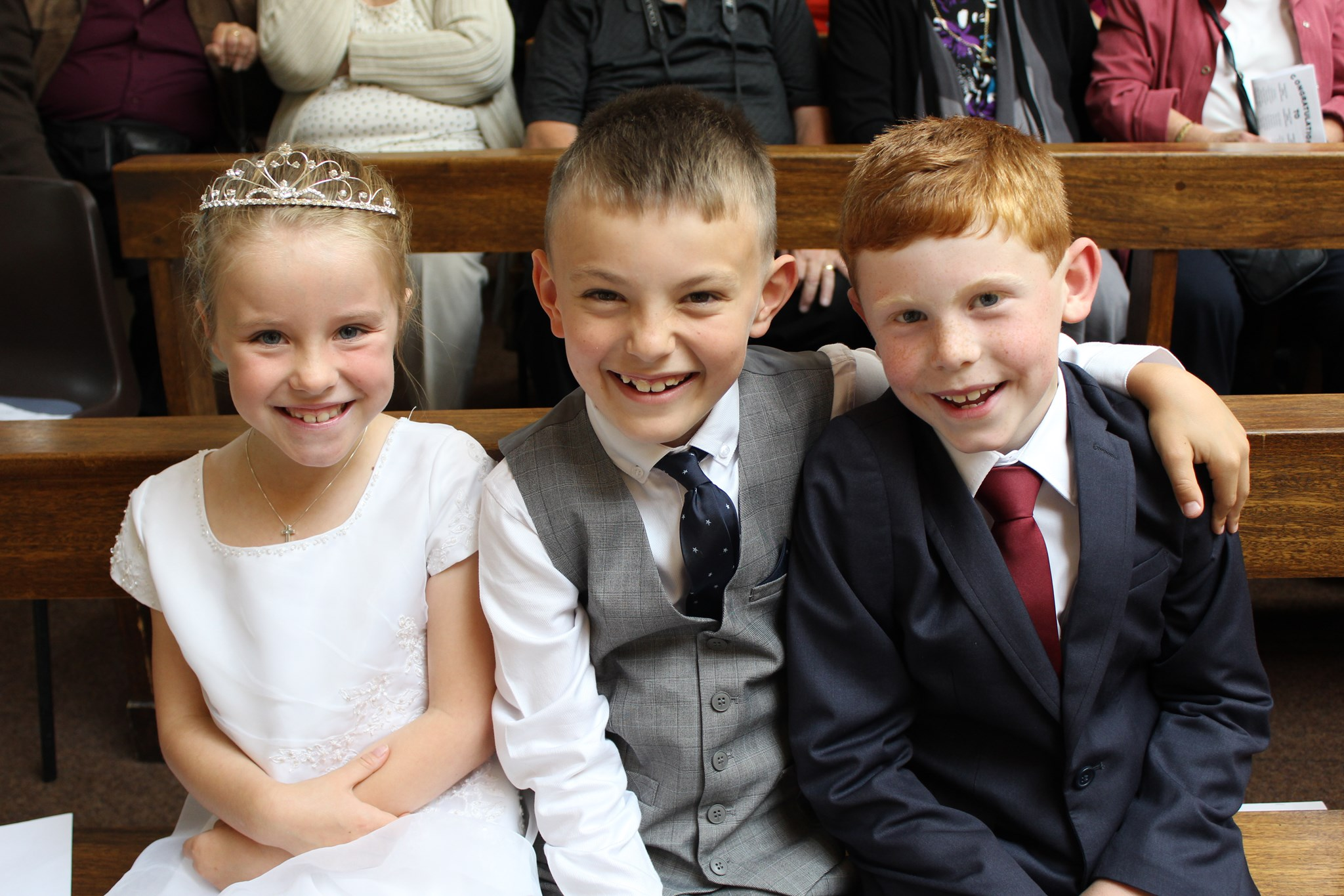 Elisabeth looking so angelic at her First Holy Communion with Lucca and Logan. A very special and memorable day. x