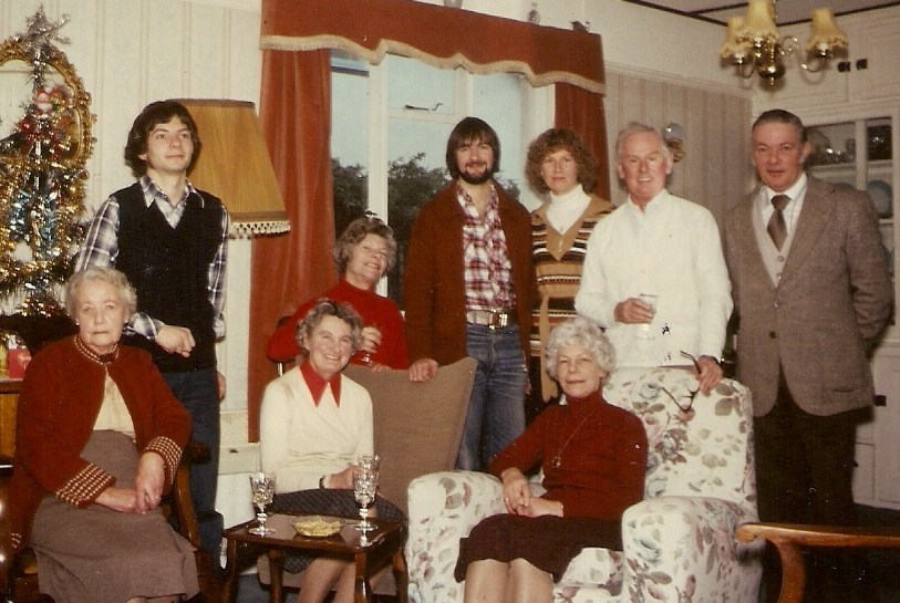 christmas at Joan and Peter Leslie 1978