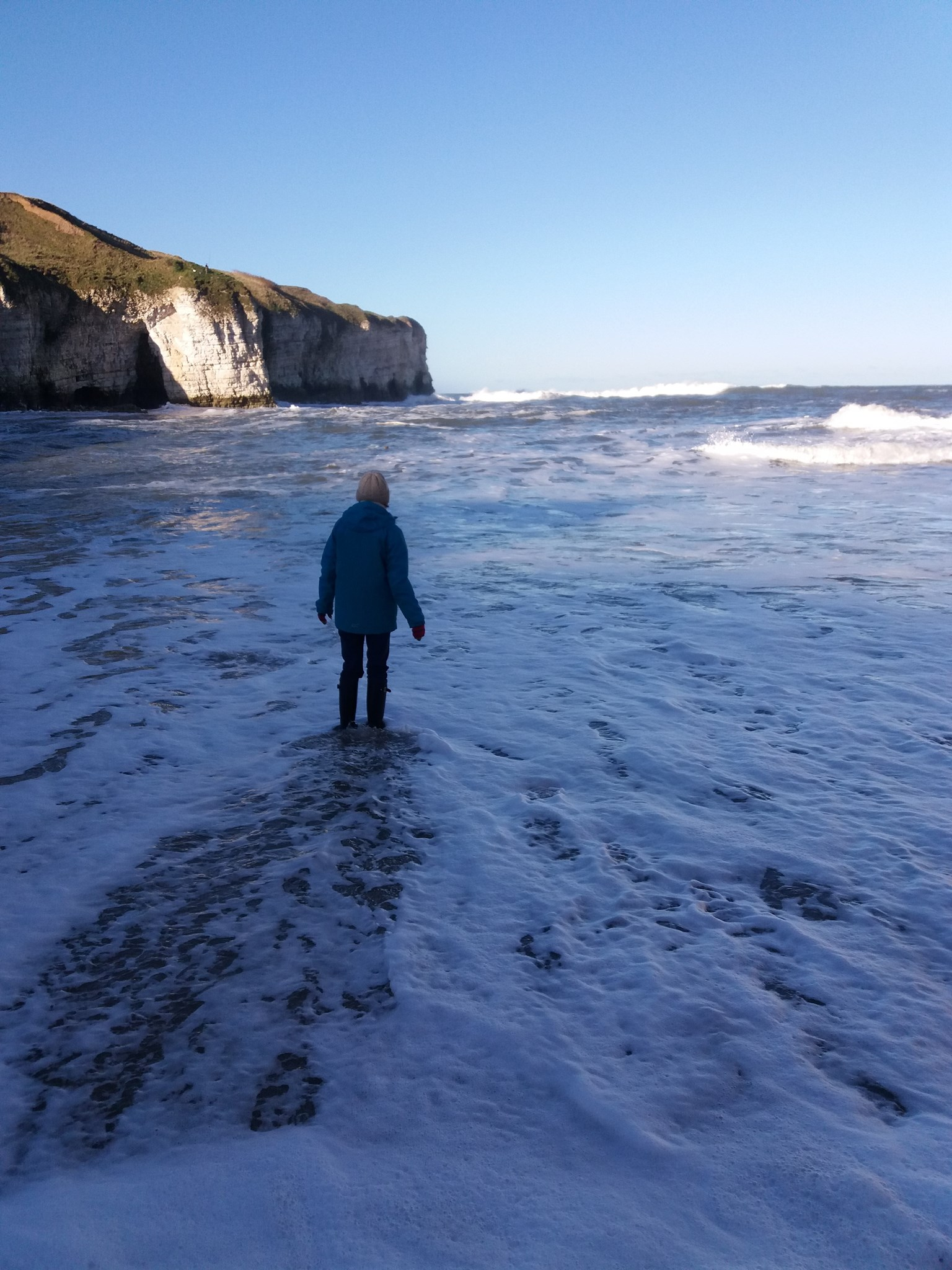 Filling her boots at Flamborough Head minus the puffins 20171126 115426