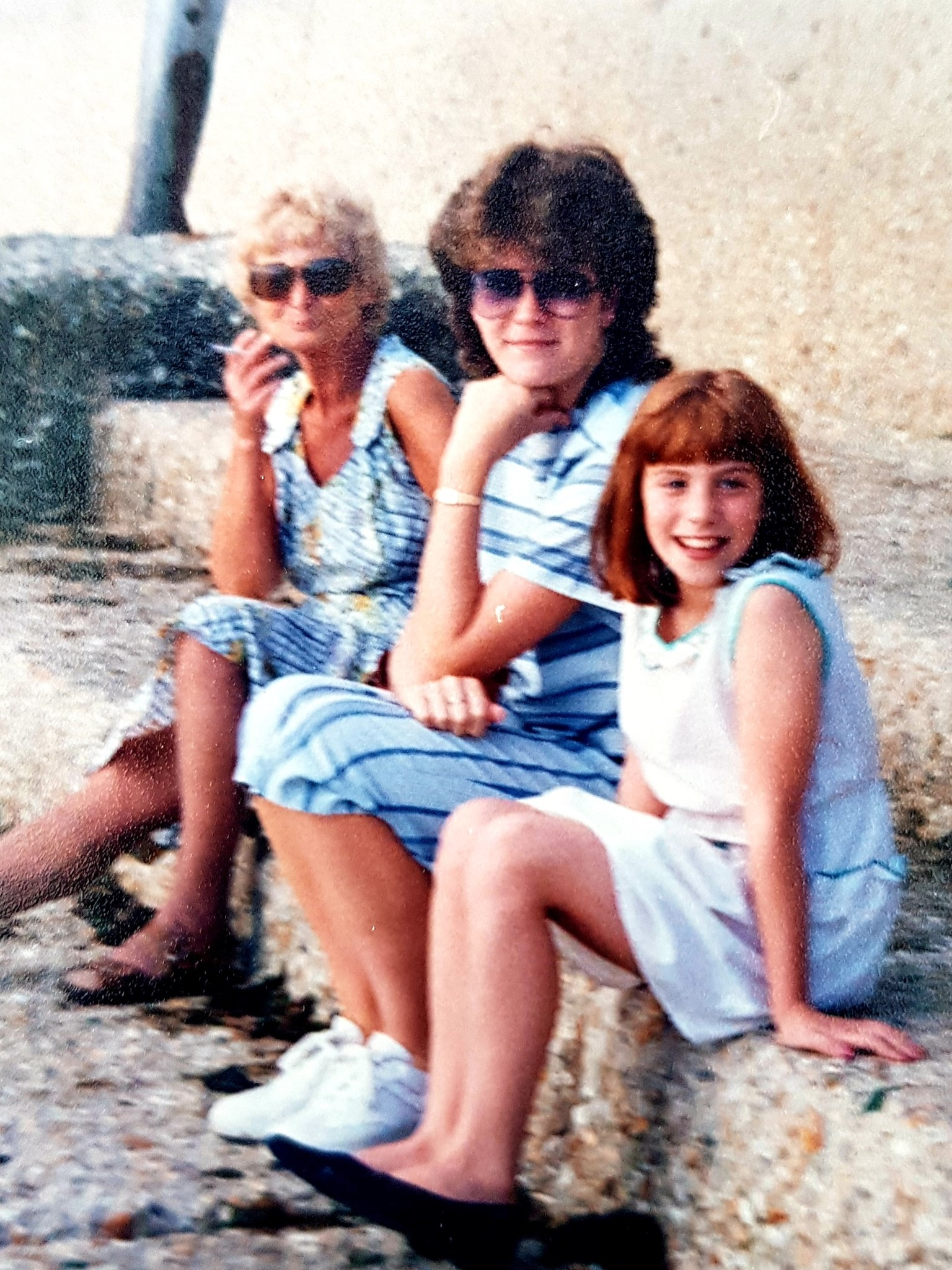 Lucy with Nanan and Lynnette at Bognor Regis
