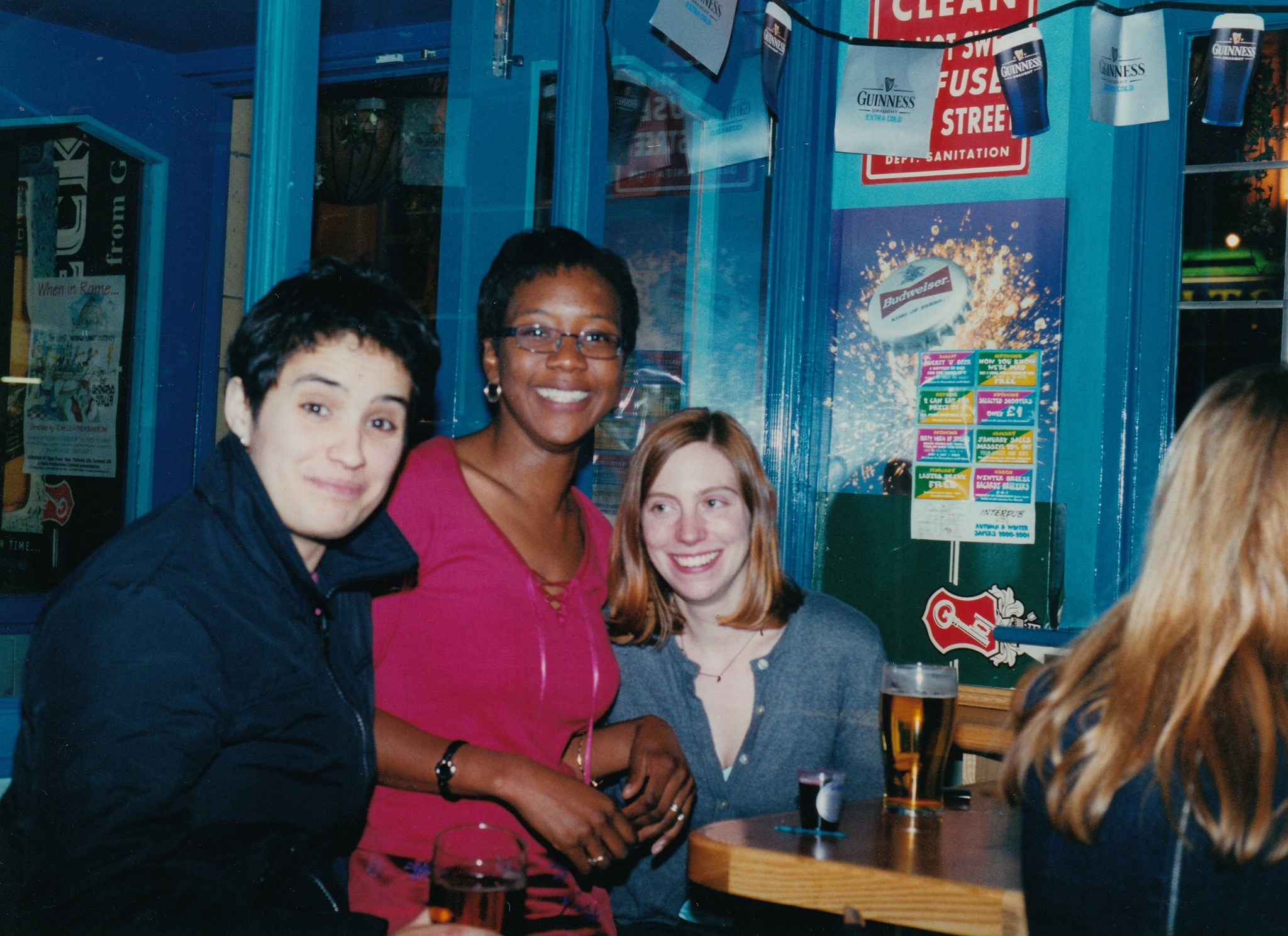 A night out in London - me, Jen and Luce. Late 90s/early noughties