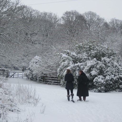 kim and Faye ...walked in all weathers