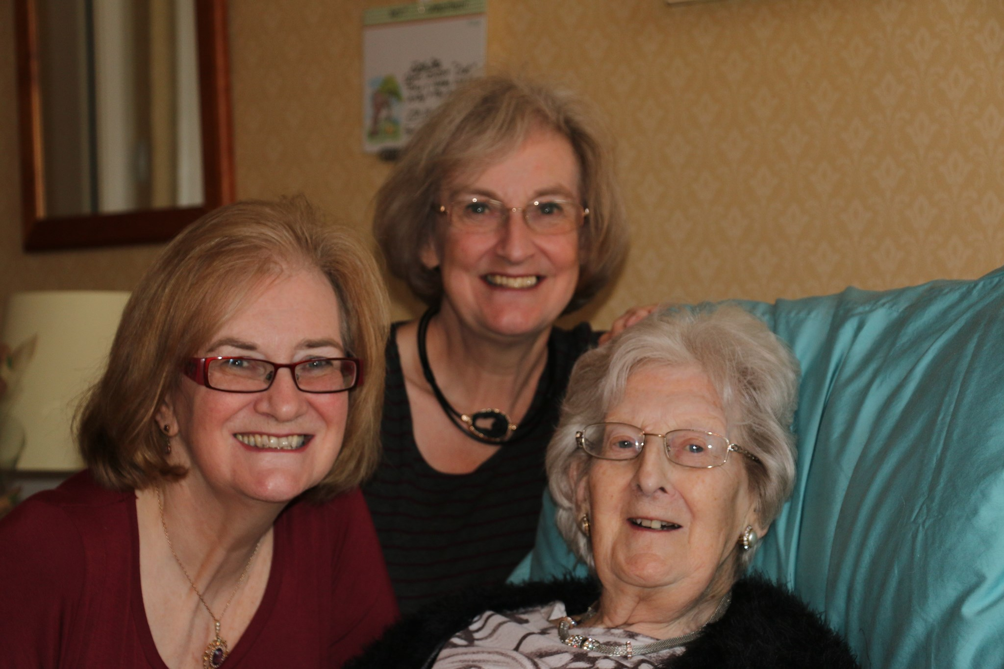Lorna with her daughters - Jenny and Nikki