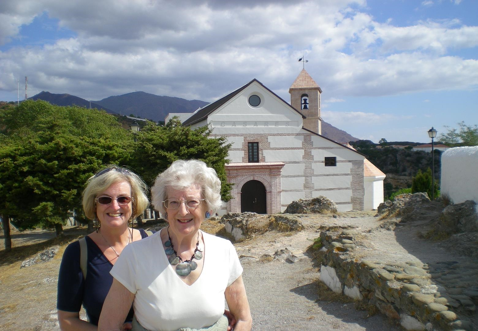 Lorna with Jenny in Spain