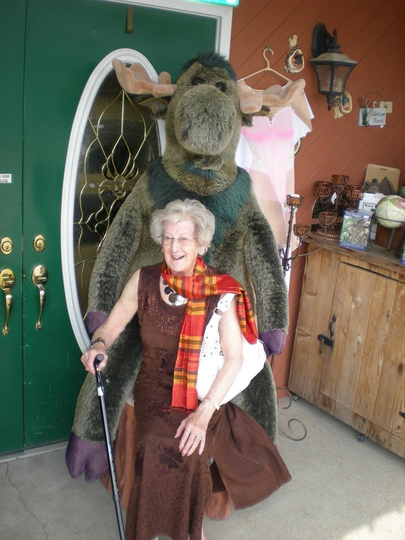 Lorna in Canada at 'Grumbling Granny' (the shop name)