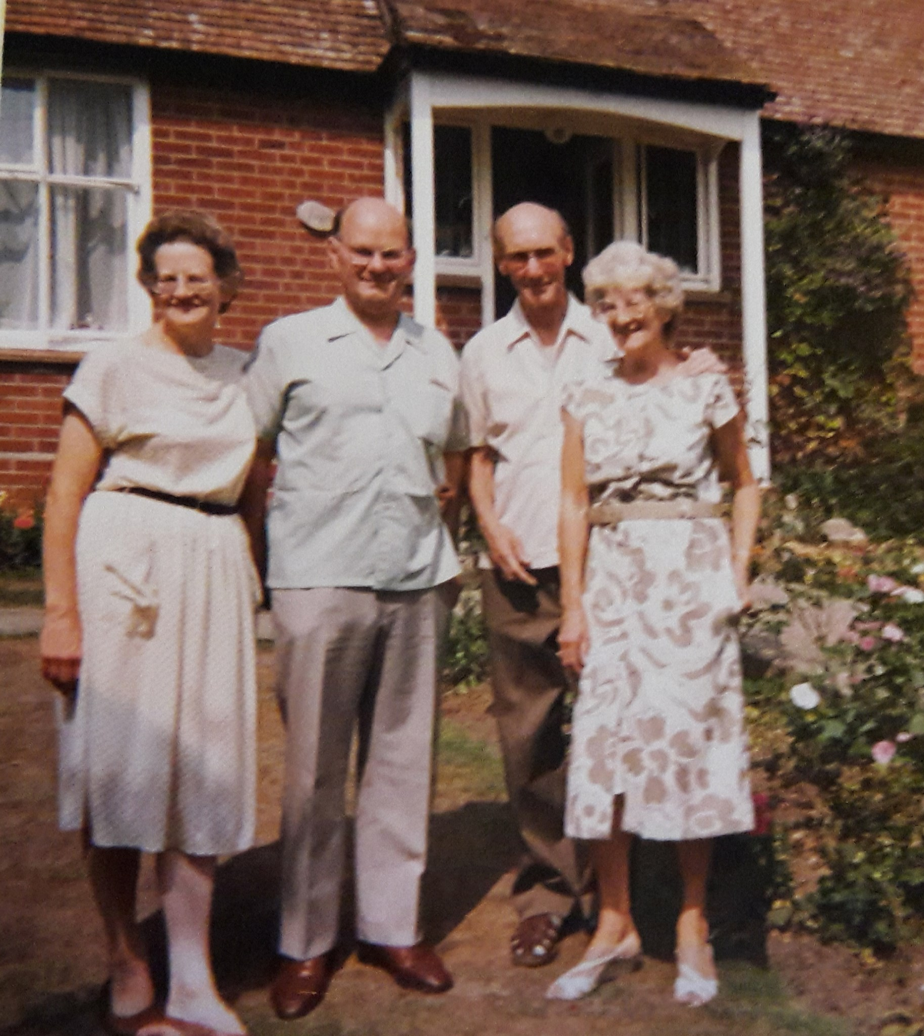 Lorna and Peter with her sister Ann and husband Robin in Canterbury