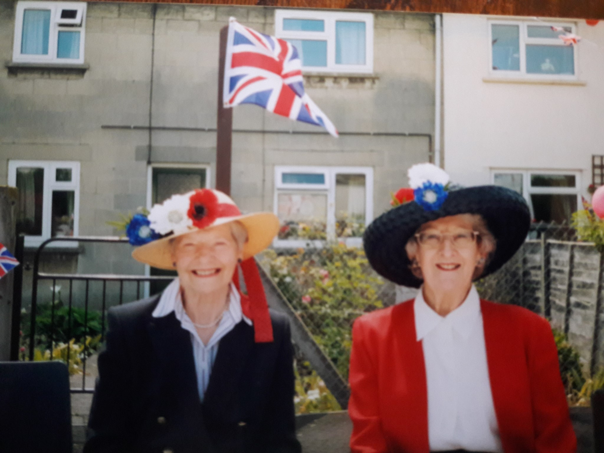 Lady B (Barbara Cameron) and Lady Eleanor at The Queen's Jubilee party in Chew Stoke