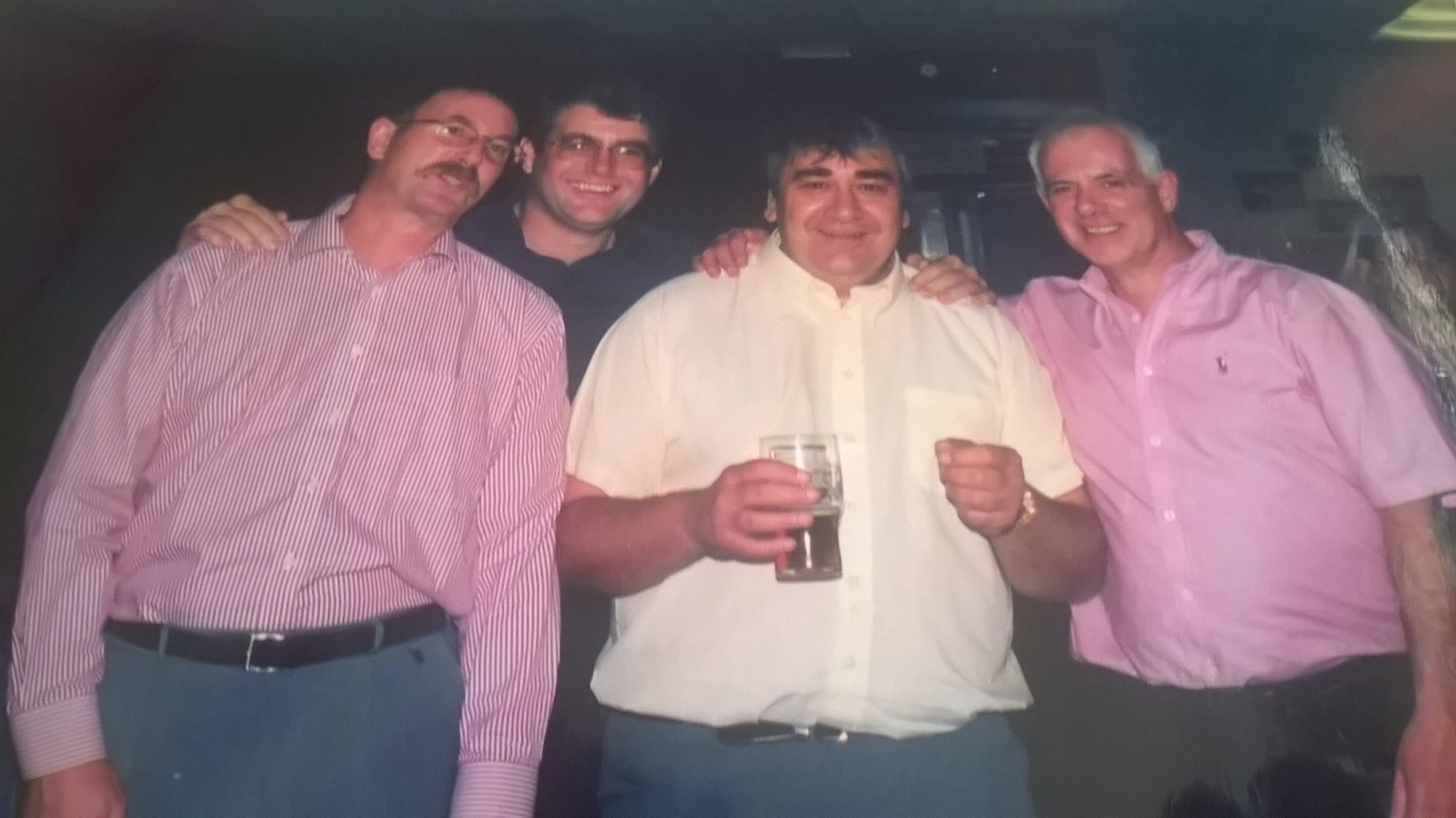 the boys, from the gang, left to right, Mick, Phil, Pete and dad (Dave)