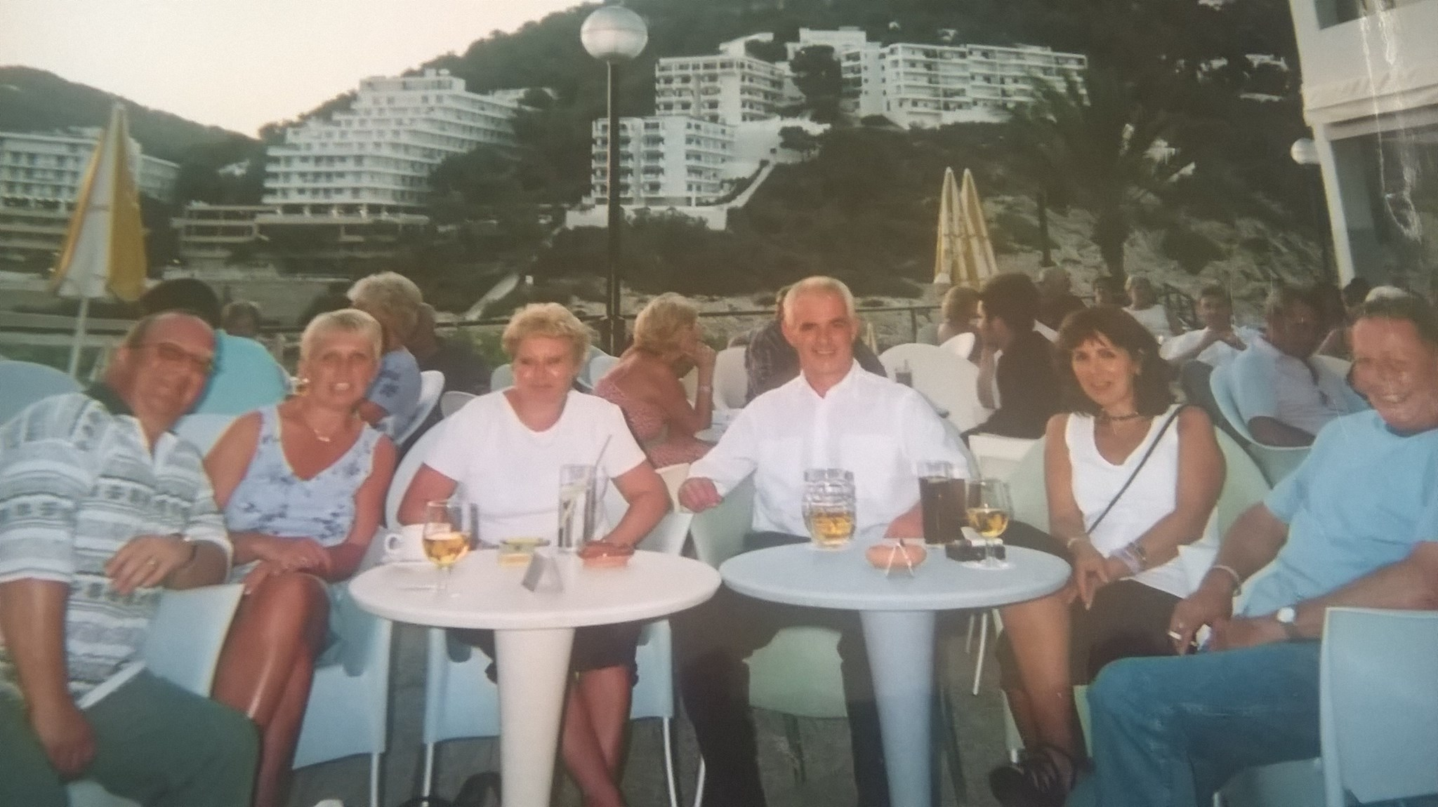 hotel calla llonga in Ibiza, with friends met on holiday